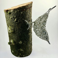 Wire Bird Sculpture - Nuthatch