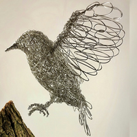 Wire Bird Sculpture - Starling