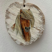 Country plaque- PONY HEAD