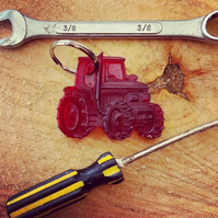 Red tractor keyring