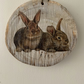 Country plaque RABBIT