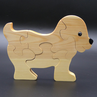 Wooden Puppy Jigsaw Puzzle