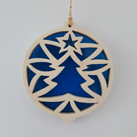 Christmas Tree Decoration or Sun Catcher in Wood and Acrylic (Christmas Tree)