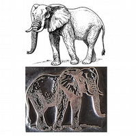African elephant  printing stamp