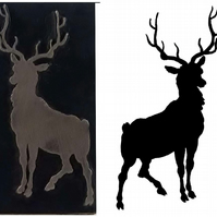 Stag silhouette  printing stamp