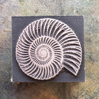 Ammonite printing stamp