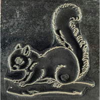 squirell printing stamp