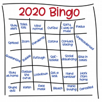 Christmas card: 2020 Bingo