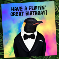 Animalyser card: Flippin' Great Birthday
