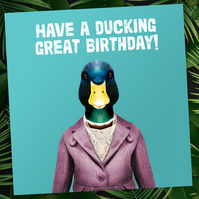 Animalyser card: Ducking Great Birthday
