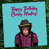 Animalyser card: Cheeky Monkey (Blue)