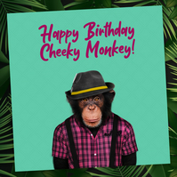 Animalyser card: Cheeky Monkey (Green)