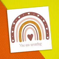 Congratulations or thank you card: You are amazing