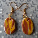 Tiger Stripe Earrings