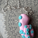 Pink and Mint Tentacle Necklace