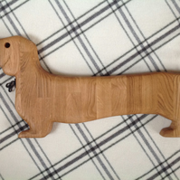 DACHSHUND LARGE CHOPPING SERVING BOARD. SOLID OAK Cheese, bread, snacks etc.