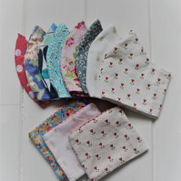 Choice of two mix & match washable face coverings. Free storage pouch & postage
