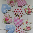 Fabric heart garland