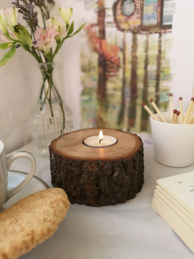 Bark Tealight holder