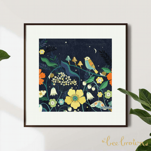 'Night-Time Spring' - Art Print