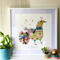 Decorative Bird - Giclee Art Print