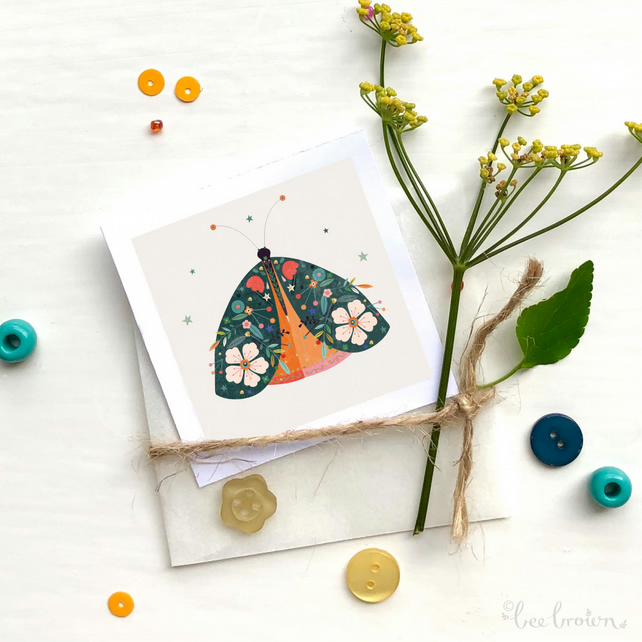 'Decorated Moth' - Mini Art Print