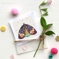 'Pretty Moth' - Mini Art Print