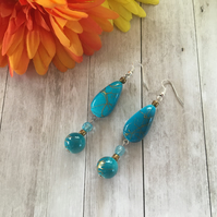 Splash of turquoise Earrings