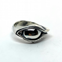 The Eyes ring in sterling silver 925 handmade