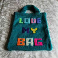'LOVE MY BAG' Knitted Tote Bag
