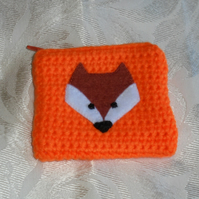 Crochet Orange Coin Purse