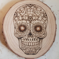 Mexican Day of the Dead Skull Wood Slice (Large)