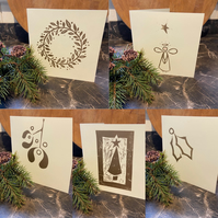 Golden Christmas cards