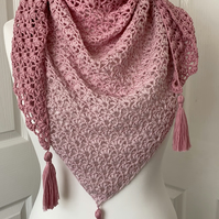 Handmade crochet wrap or shawl