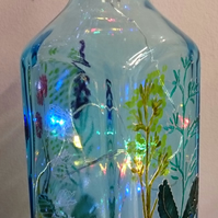 Sapphire Family - Mother - Handpainted Bottle Light