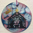 Blue and Pink - Nativity Hanger