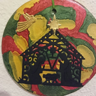 Red and Green - Nativity Hanger