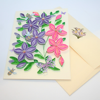 Blossoms Quilled Card A6