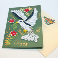 Dove of Peace Quilled Card A6