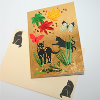 Cats! Quilled Card A6