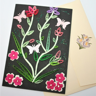 Flowers Quilled Card A6