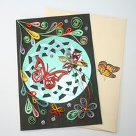 Floral Incire & Quilled Card A6
