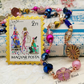 Glass Beaded Necklace with Postage Stamp Pin – Arabian Nights