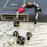 Glass Beaded Bracelet - Edgar Allan Poe