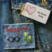 Denim  Brooch