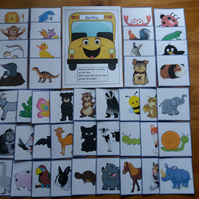 EYFS Phase 1 Phonics 'BERTHA THE BUS GOES TO THE ZOO' Alliteration Game