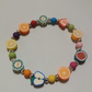 Handmade Polymer Clay Fun Fruit Shapes Bead Bracelet