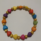 Handmade Multicoloured Hearts and Gold Plated Filigree Spacer Bead Bracelet