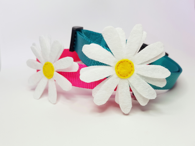 Daisy Flower Accessory for Dog Collars