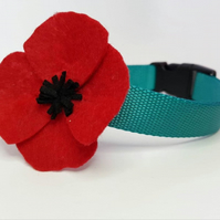 Poppy Flower Accessory for Dog Collar